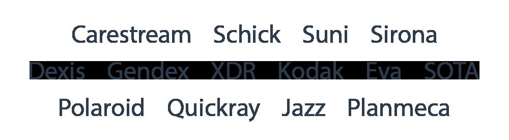 X-ray Sensor Repair Brands We Repair